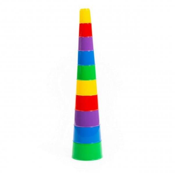 Zábavné náučné kocky - pyramída 10 ks
