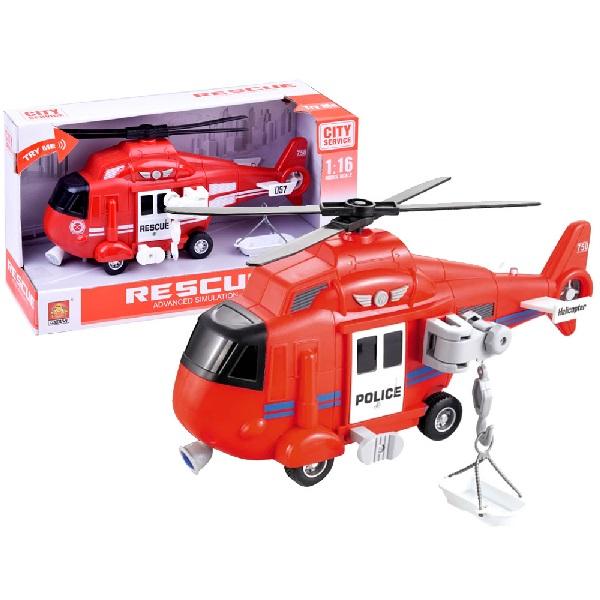 Záchranná helikoptéra na batérie