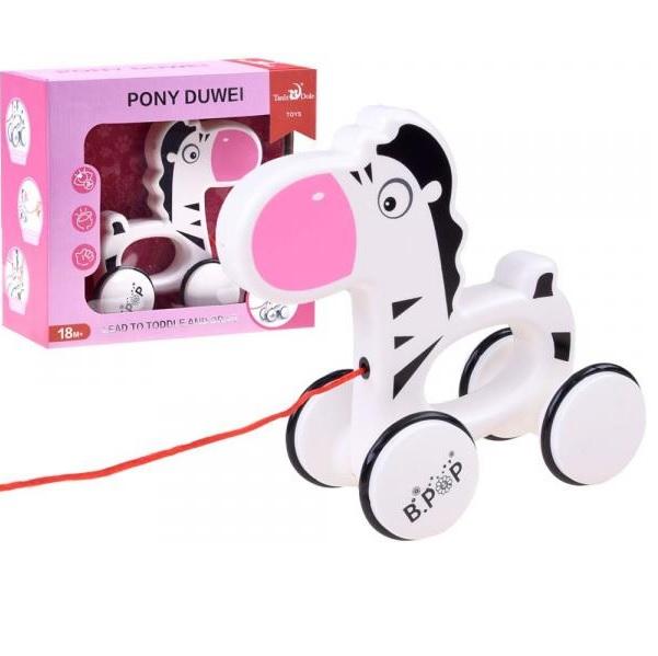 Zebra Pony na kolieskach - hračka na ťahanie