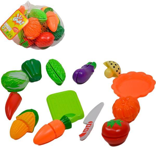 Zelenina a ovocie na krájanie v sieťke