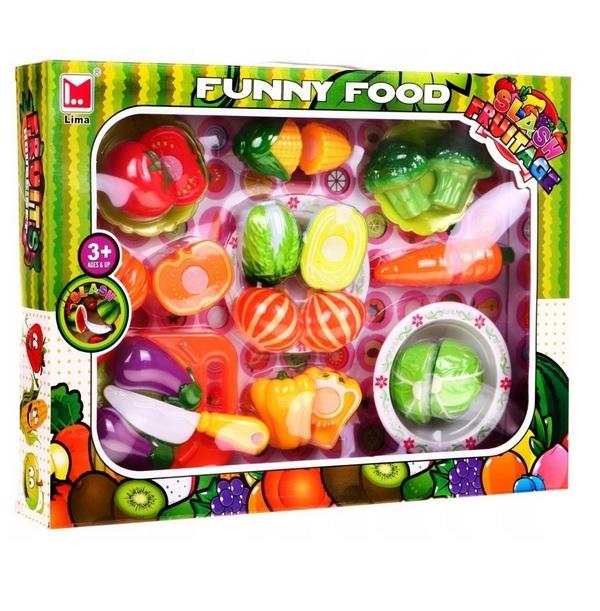 Zeleninová sada na krájanie s tanierikmi a doskou