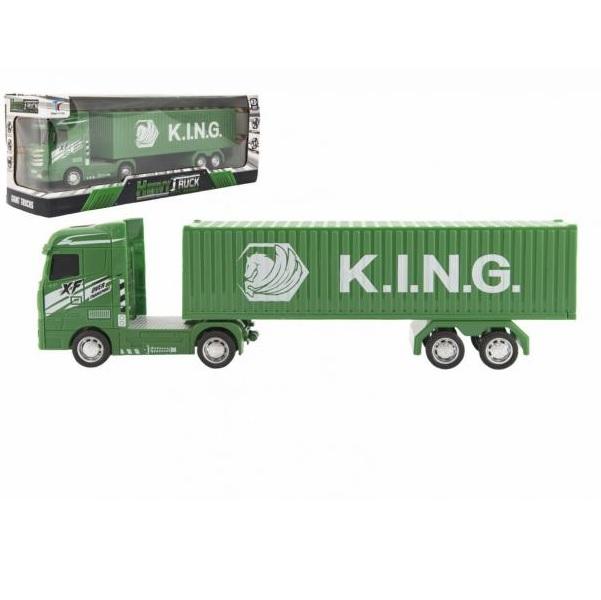 Zelený kamión s kontajnerom 30 cm