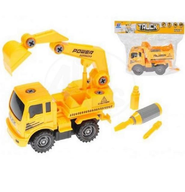 Žlté stavebné auto šrubovacie